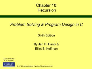 Chapter 10: Recursion