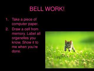 BELL WORK!