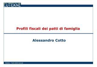 Profili fiscali dei patti di famiglia