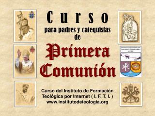 C  u  r  s  o para padres y catequistas  de Primera   Comuni�n