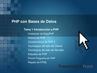 PHP con Bases de Datos