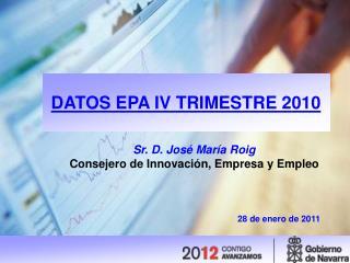DATOS EPA IV TRIMESTRE 2010