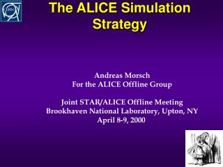 The ALICE Simulation Strategy