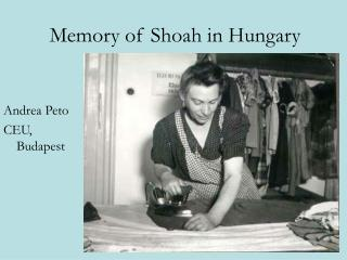 Memory of Shoah in Hungary