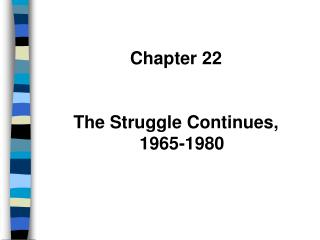 Chapter 22 The Struggle Continues, 1965-1980
