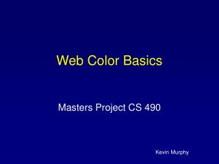 Web Color Basics