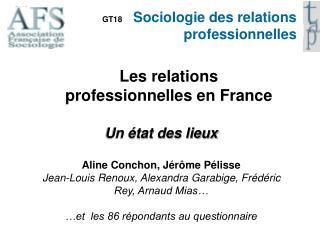 GT18     Sociologie des relations professionnelles
