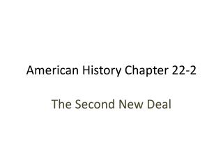 American History Chapter 22-2