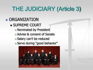 THE JUDICIARY (Article 3)