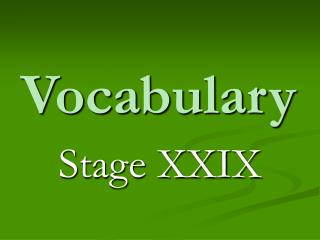 Vocabulary