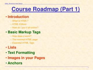 Course Roadmap (Part 1)