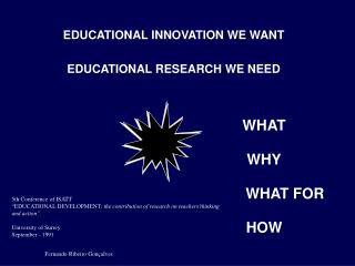 EDUCATIONAL INNOVATION WE WANT