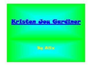 Kristen Joy Gardiner