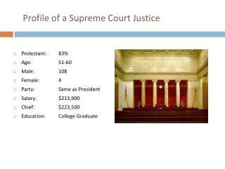 Profile of a Supreme Court Justice