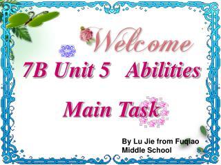 By Lu Jie from Fuqiao Middle School