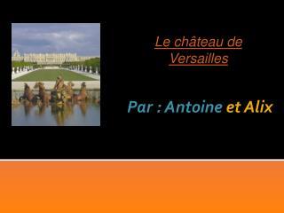 Par : Antoine  et Alix
