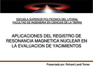 ESCUELA SUPERIOR POLITECNICA DEL LITORAL FACULTAD DE INGENIERIA EN CIENCIAS DE LA TIERRA