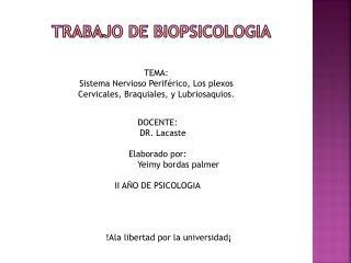 TRABAJO DE  BIOPSiCOLOGIA