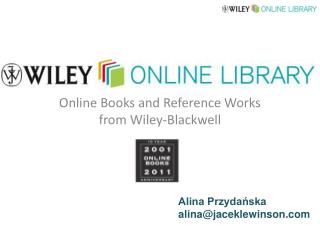 Online Books and Reference Works from Wiley-Blackwell