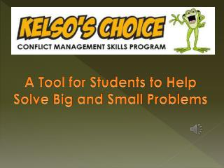 A Tool for Students to Help Solve Big and Small Problems
