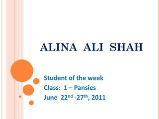 ALINA  ALI  SHAH