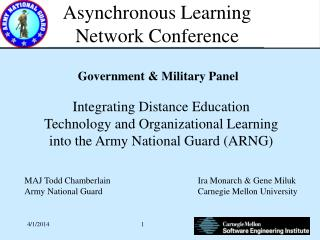 Asynchronous Learning Network Conference