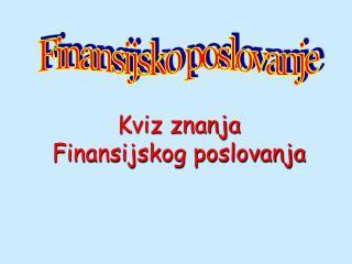 Finansijsko poslovanje