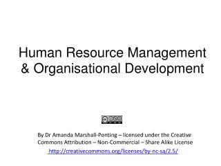 Human Resource Management & Organisational Development