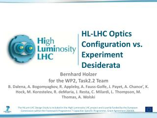 HL-LHC Optics Configuration vs. Experiment Desiderata