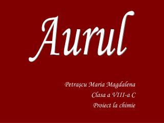 Petra şcu Maria Magdalena Clasa a VIII-a C Proiect la chimie