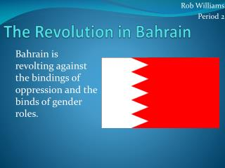 The Revolution in Bahrain
