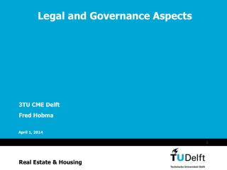 Legal and Governance Aspects