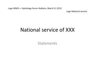 National service of XXX