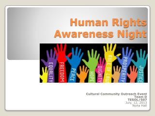 Human Rights Awareness Night