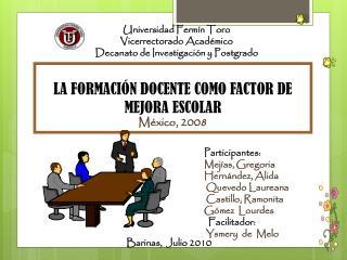 Universidad Fermín Toro Vicerrectorado Académico Decanato de Investigación y Postgrado