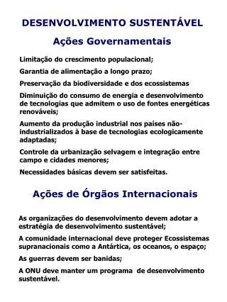 A��es Governamentais