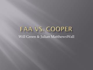 FAA vs. Cooper