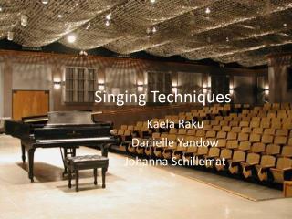Singing Techniques