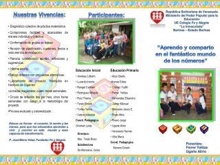 Ponentes: Ferrer Yelitza  Ugarte Alirio