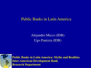 Public Banks in Latin America
