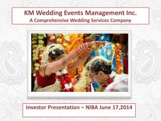 KM Wedding Events Management Inc. A Comprehensive Wedding Services Company