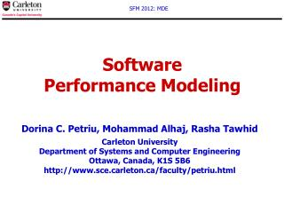 Software  Performance Modeling