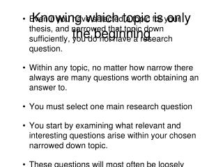 Knowing which topic is only the beginning