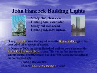 John Hancock Building Lights