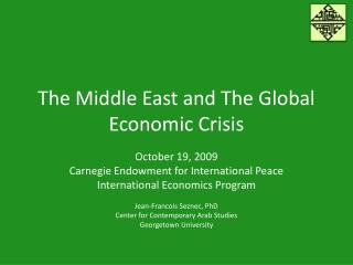 The Middle East and The Global Economic Crisis