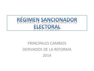 R�GIMEN SANCIONADOR ELECTORAL