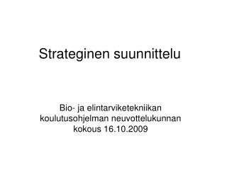 Strateginen suunnittelu