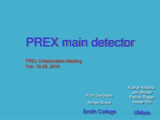PREX main detector