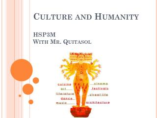 Culture and Humanity HSP3M  With Mr. Quitasol