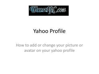 Yahoo Profile